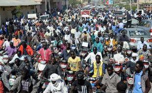 Manifestation à N'Djamena au Tchad le 17 janvier 2015 en soutien au gouvernement dans la lutte contre le groupe islamiste nigérian Boko Haram