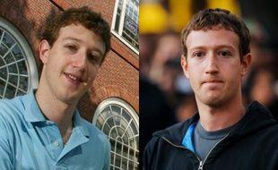 Mark Zuckerberg en 2004 et en 2013.