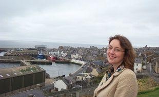 Dr Eilidh Whiteford, élue du Scottish National Party à la Chambre des communes, à Macduff, en Ecosse, en 2014.