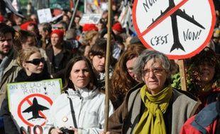 Manifestation contre le projet d'aéroport de Notre-Dame-des-Landes à Nantes le 22 février 2014.