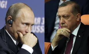 Montage: Vladimir Poutine et Recep Tayyip Erdogan en 2015.