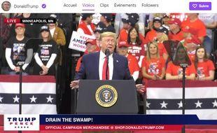 Donald Trump a désormais un compte sur Twitch.