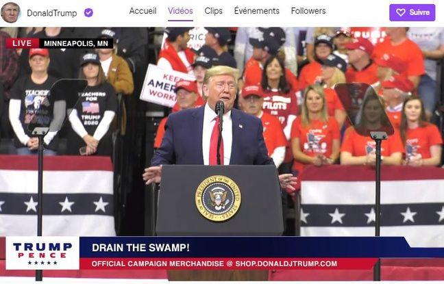 Donald Trump a désormais une chaîne sur la plateforme Twitch