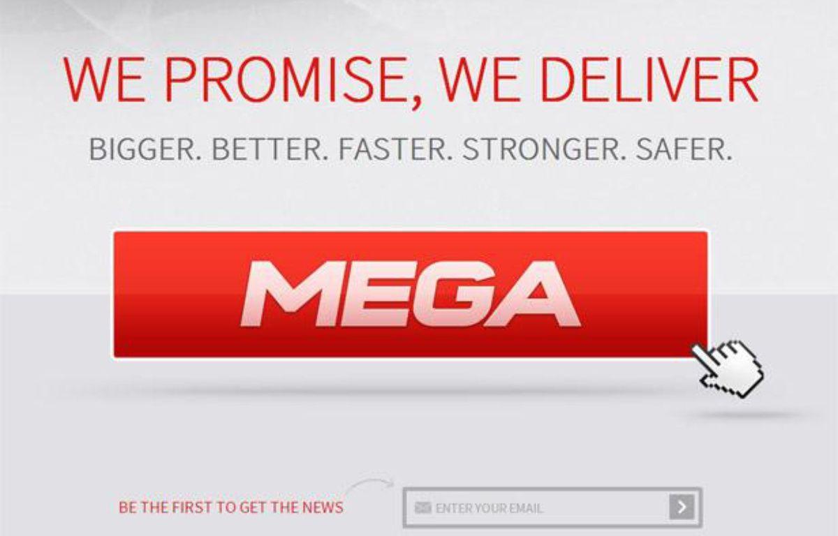 La page d'accueil du site Mega, créé par Kim Dotcom. – CAPTURE D'ECRAN/20MINUTES.FR