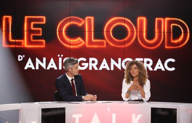 La chroniqueuse Anaïs Grangerac au côté de Jean-Baptiste Boursier, sur le plateau de