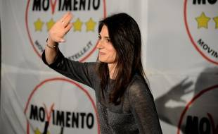 Virginia Raggi, candidate du mouvement anti-partis Cinq Etoiles à Rome