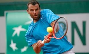 Le français Marc Gicquel à Roland-Garros en 2013.