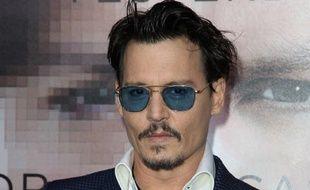 Johnny Depp lors de la première du film «Transcendance», le 11 avril 2014.
