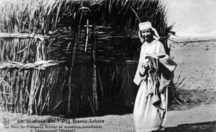Charles Eugène de Foucauld, officier, explorateur et religieux, à Tamanrasset, en Algérie en 1905.