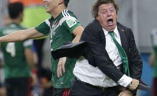 Le coach du Mexique Herrara, le 23 juin 2014
