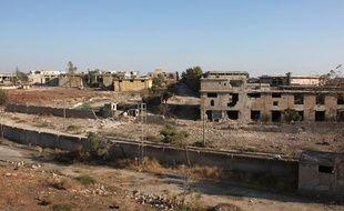 Photo prise le 8 octobre 2016 du quartier d'Awijah à Alep, en Syrie.