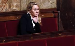Marion Maréchal Le Pen sur les bancs de l'Assemblée le 14 janvier 2014.