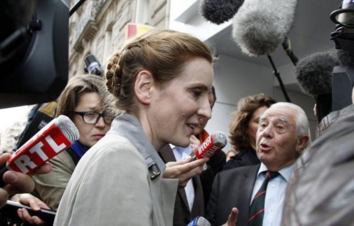 Brigitte Dupin, la candidate du Rassemblement Bleu Marine (Front national et alliés) battue au 1er tour dans l'Essonne face à Nathalie Kosciusko-Morizet, a confirmé mardi l'appel de Marine Le Pen à faire battre l'ex-ministre UMP et à voter PS dans sa circonscription. – Francois Guillot afp.com