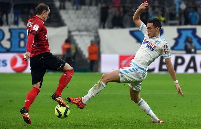 Lucas Ocampos à Marseille le 10 janvier 2016