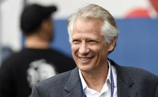 L'ancien ministre Dominique de Villepin au Parc des princes à Paris, le 23 avril 2014