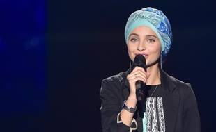 Mennel Ibtissem lors des auditions à l'aveugle de la saison 7 de «The Voice».