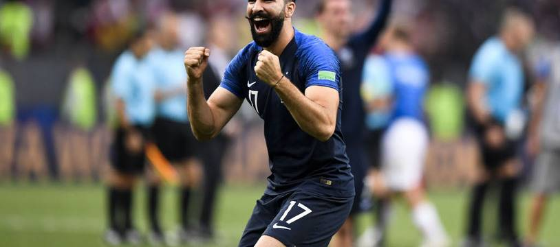 Le champion du monde de football Adil Rami