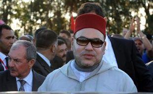 Le roi du Maroc Mohamed VI, photographié le 30 mai 2014 victime d'une plainte d'un ancien officier