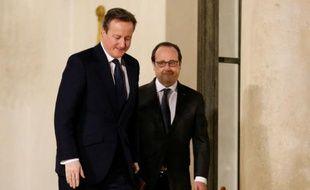 Francois Hollande et David Cameron, le 15 février 2016 à Paris
