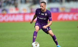 Franck Ribery avec le maillot de la Fiorentina