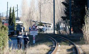 Une collision entre un autocar scolaire et un train à Millas a fait au moins cinq morts, le 14 décembre 2017.