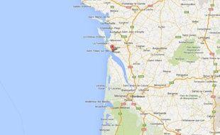 Google map de Royan, en Charente-Maritime.