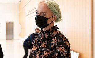Mila, le 7 juillet lors de la condamnation de ses cyber-harceleurs à Paris.