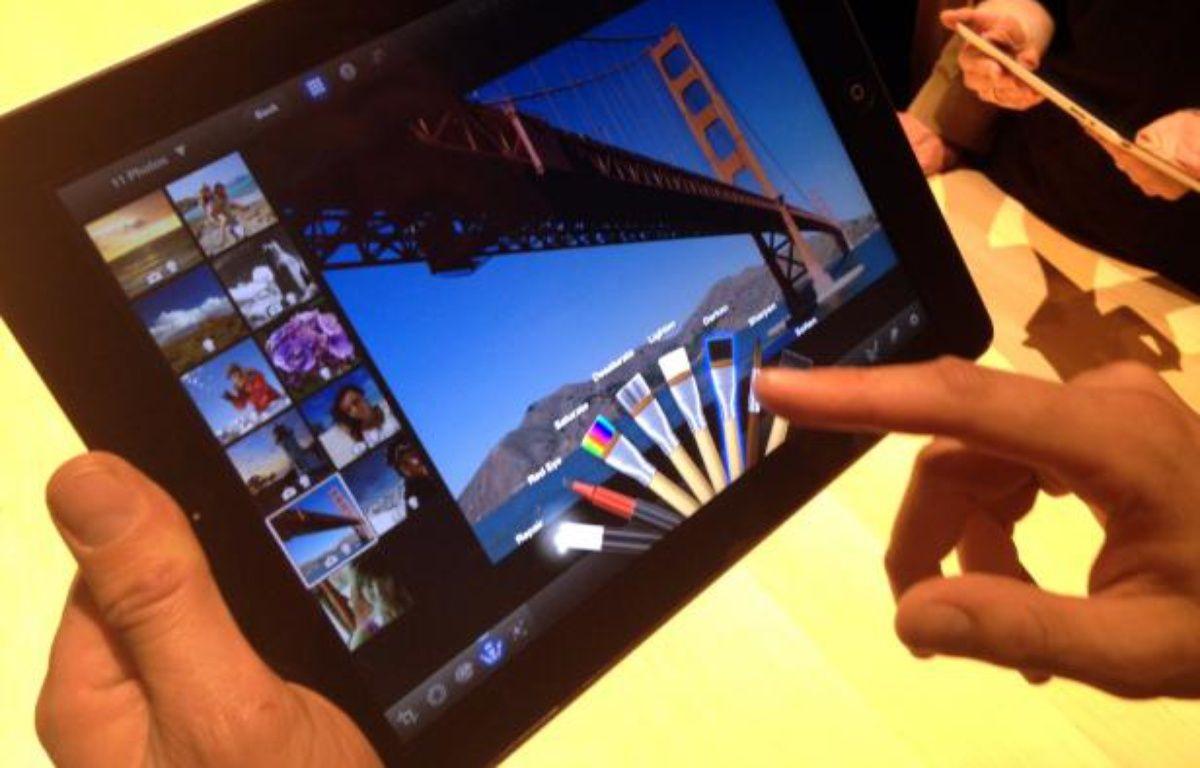 Le nouvel iPad, présenté le 7 mars 2012, propose un écran «retina» à la résolution quatre fois supérieure à celle de l'iPad 2. – C.SEFRIN/20MINUTES