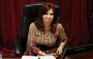 La présidente du Sénat et a vice-présidente du pays Cristina Kirchner au Congrès à Buenos Aires, le 29 décembre 2020.
