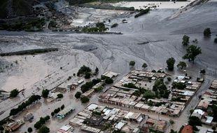 Le village de Volcan, en Argentine, englouti par l'eau en janvier 2017.