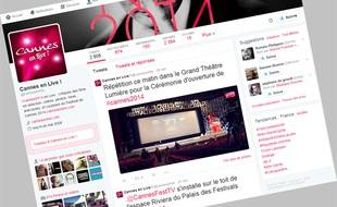 Le compte Twitter «Cannes en live».