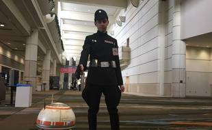 Maxime Hanocq arrête BB8 au convention center d'Orlando