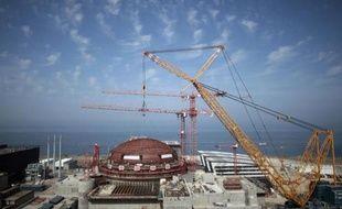 Le chantier du réacteur nucléaire EPR de Flamanville (Manche), en 2013