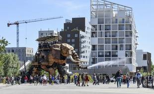 Le Grand éléphant des Machines de l'île, à Nantes, a été financé en bonne partie par l'Europe.