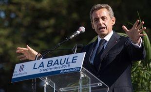 Nicolas Sarkozy, lors de son discours le 5 septembre 2015 à La Baule. Credit:SALOM-GOMIS SEBASTIEN/SIPA.