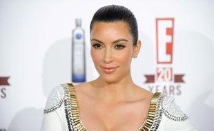 La star de la téléréalité américaine, Kim Kardashian, arrive à la fête d'anniversaire de la chaîne E!, à West Hollywood, le 24 mai 2010.