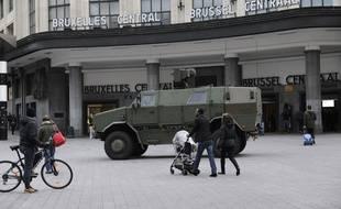 Bruxelles en état d'alerte, le 22 novembre 2015.