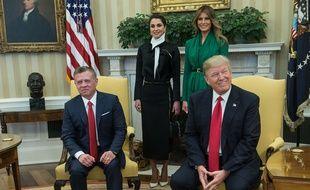 Le président Donald Trump a rencontré le roi Abdullah II de Jordanie le 5 avril 2017.