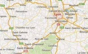 Lyon (Rhône) et Saint-Etienne (Loire)