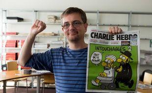 Charb, le directeur de la publication de «Charlie Hebdo», à Paris en 2012.