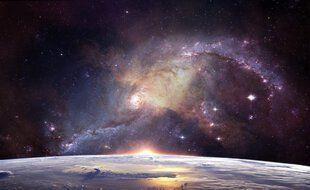 Illustration d'une galaxie.