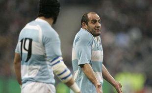 Le talonneur argentin Mario Ledesma, le 14 octobre 2007 au Stade de France.