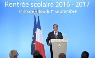 François Hollande, lors de son discours sur la rentrée scolaire à Orléans septembre 2016.