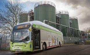 Un bus anglais qui roule au biométhane.