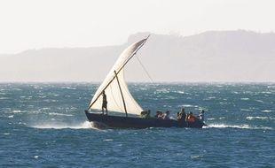 Un bateau, au large de Madagascar (illustration).