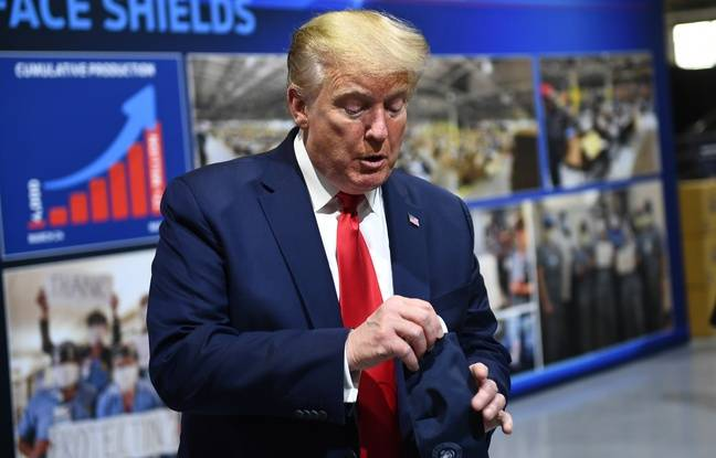 Coronavirus: Donald Trump ne «voulait pas donner aux journalistes le plaisir de le voir» avec un masque
