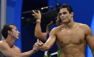 Gilot et Manaudou, deux des relayeurs français médaillés d'argent...