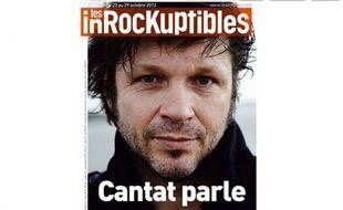 Bertrand Cantat en Une des Inrockuptibles du mercredi 23 octobre 2013.