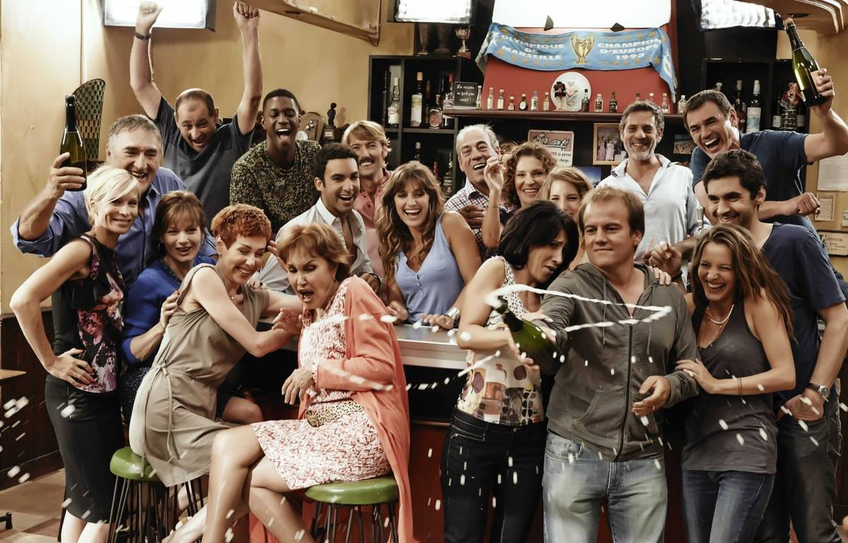 Le casting de la série Plus belle la vie diffusée sur France 3 –  GEISSELMANN/SIPA