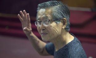 L'ancien président Alberto Fujimori,  condamné pour détournement de fonds lors de sa campagne électorale en 2000, vendredi 9 janvier 201.